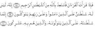 Tafsir QS An-Nahl:98-100 - Perintah Ta'udz Sebelum Baca Quran