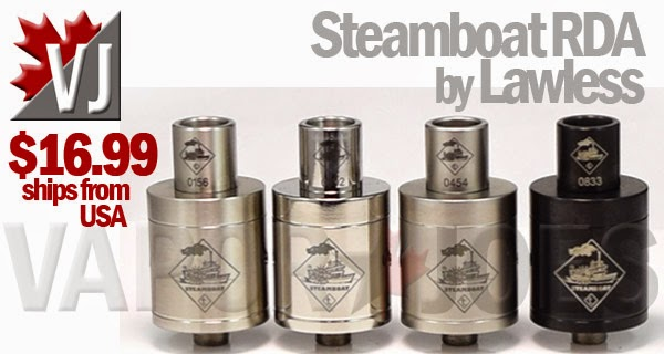 Steamboat Rebuildable Dripping Atomizer by Lawless