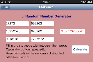 Uniform Random Number Generator - double precision Tausworthe based algorithm - required six 32-bit integer seeds