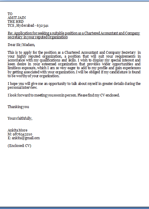 cover letter example cover letter samples for job