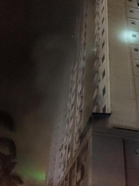 Cháy tại khu đô thị Xa La Ct4