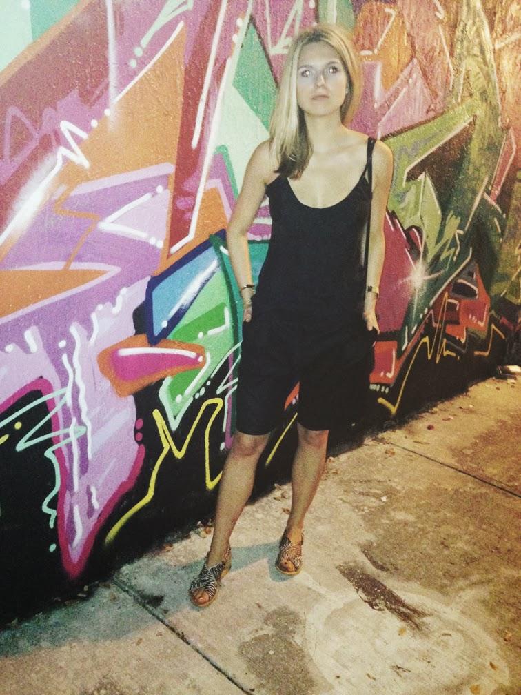 Wynwood Miami Art BAsel Tibi culottes Zara ebra print sandals