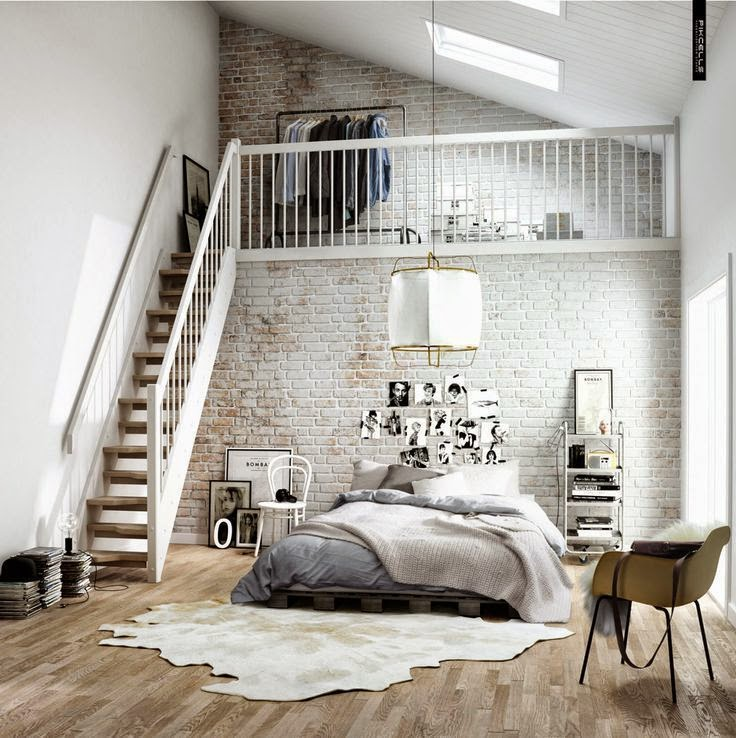 Cosy cowhide rugs on wooden floors in the bedroom, floor design