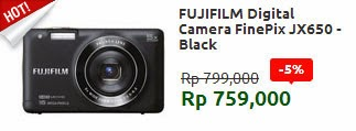 FUJIFILM Digital Camera FinePix JX650 - Black