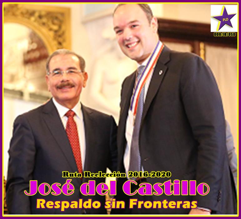 JOSE DEL CASTILLO, APOYANDO LA REELECCION DE DANILO MEDINA