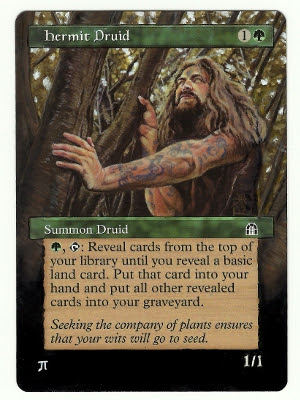 Hermit Druid Altered Art Magic the Gathering Art MTG Altered Art Artwork