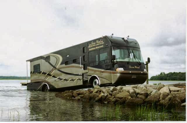 Terra wind bus dua Alam | Amfibi