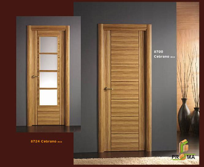 Puerta 8700 en cebrano eco de la serie vega puertas proma for Puerta 8500 proma
