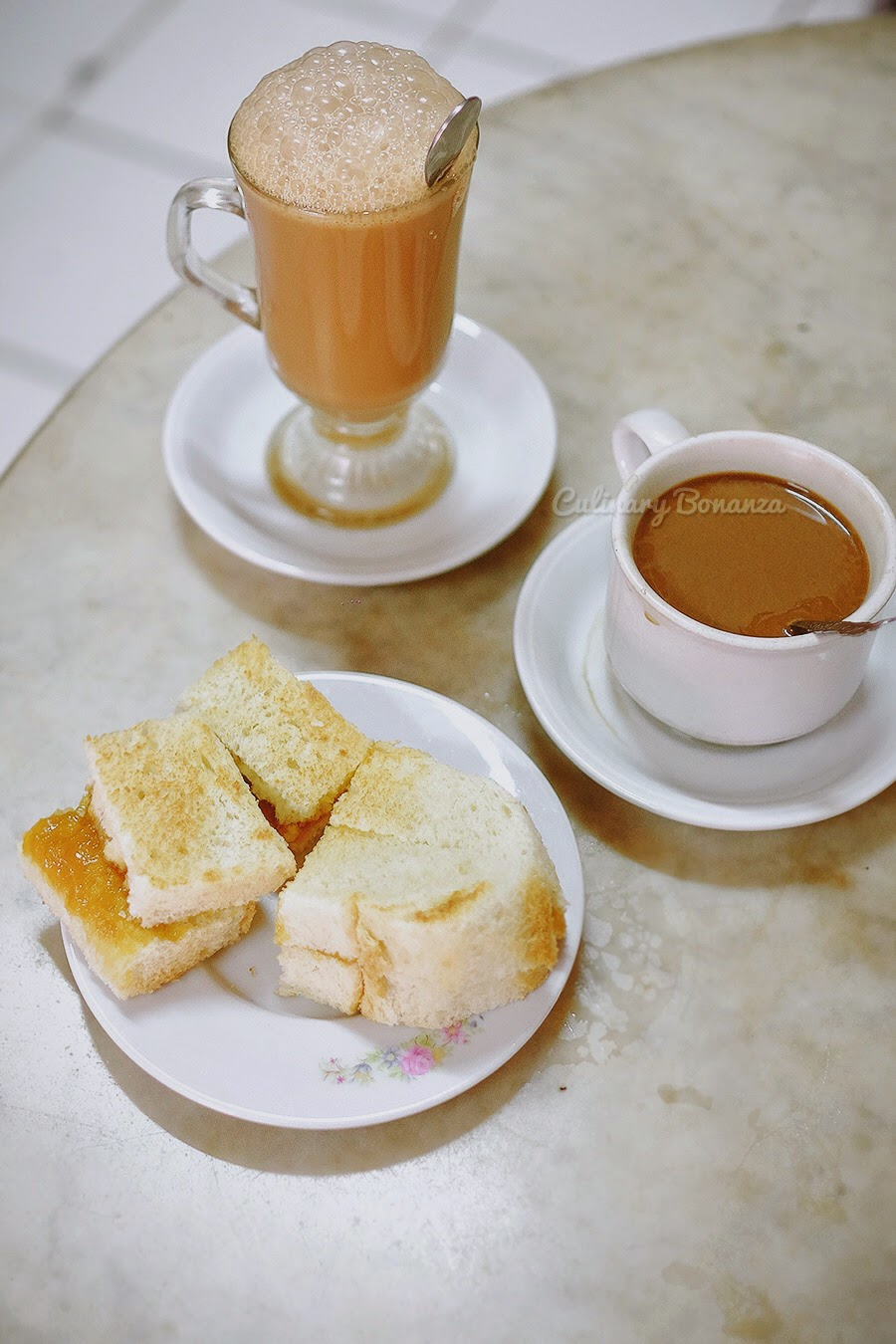 Kaya Toast, Teh Tarik and Kopi Susu