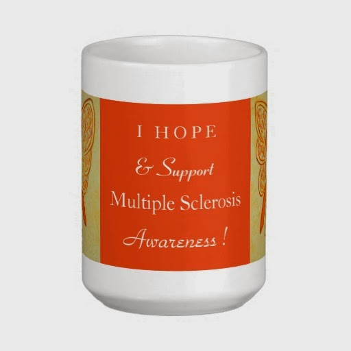 MS Orange Awareness Ribbon Multiple Sclerosis Angel Customized Gift Mugs or Cups Art