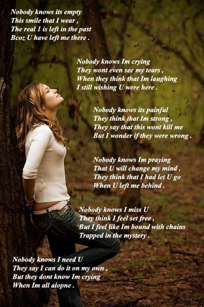 English poetry Nobody know its empty ~ Welcome to World Poetry Site