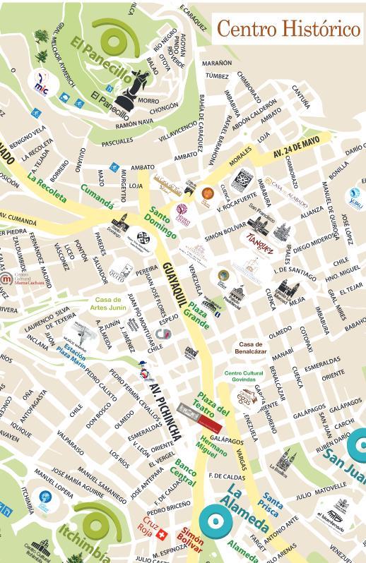 Fiestas eventos culturales en Quito Mapas