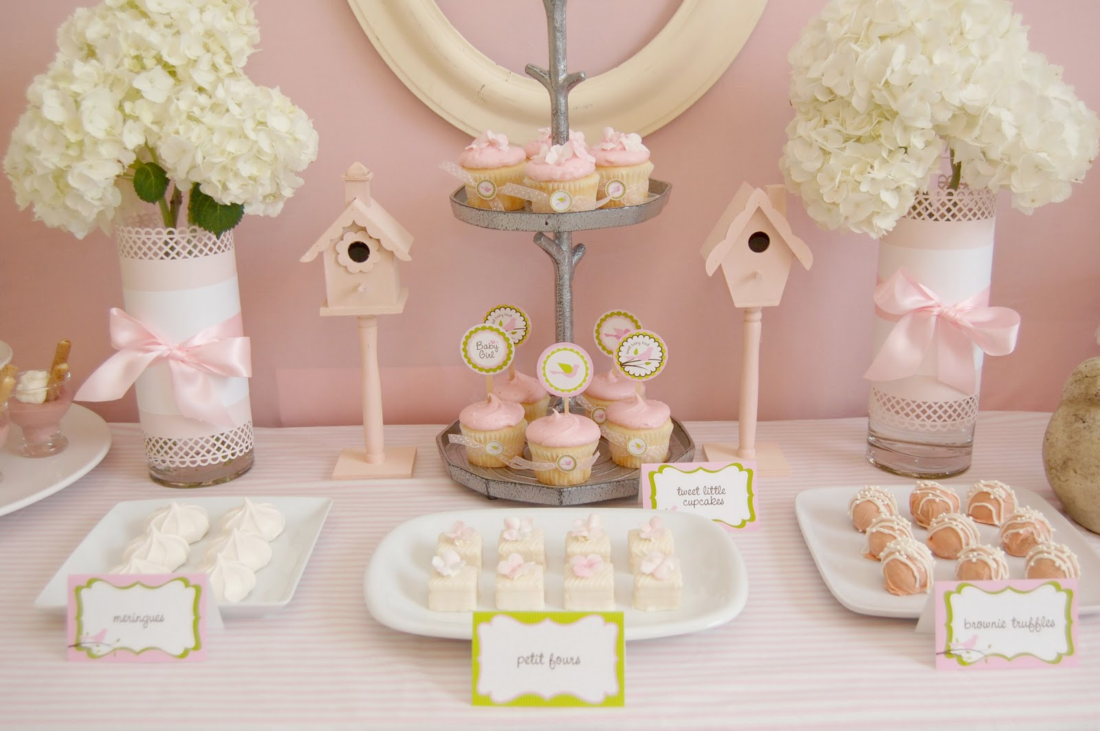 sweet birdie baby shower summer baby shower sweets table