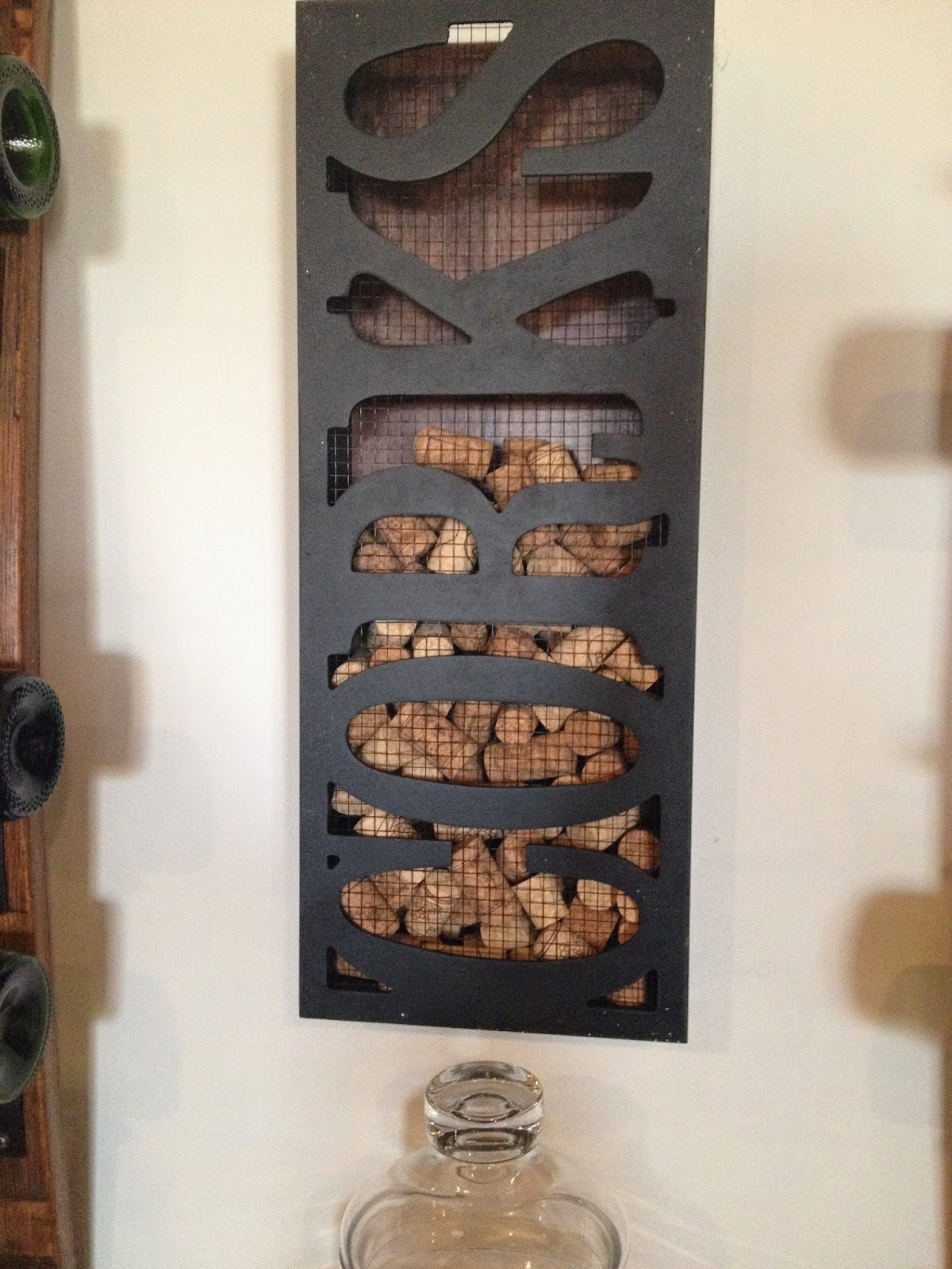 cool wine cork holder decoration