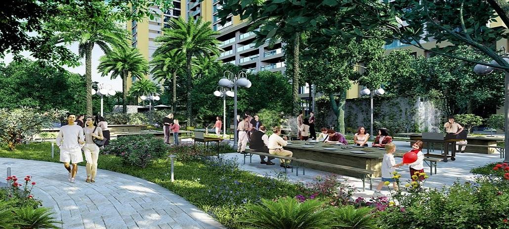 Khuôn viên xanh Phú Mỹ Complex