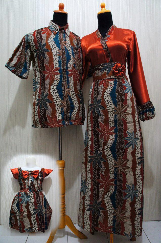 Baju Grosir Jogja Sarimbit Batik Kimono Pita Sbkp Orange