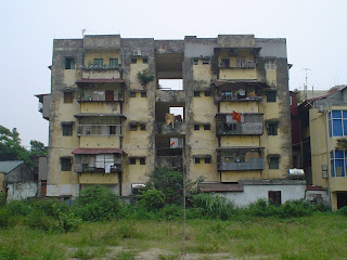 Outskirt building in Hanoi Vietnam