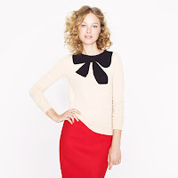 J. Crew Giant Bow Sweater