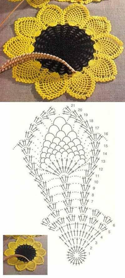 I just love sunflowers | Ganchillo | Pinterest | Sunflowers, Crochet ...