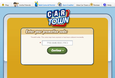 Bench Car Town Promotion Codes 2012 Facebook Car Town Promotion | Apps
