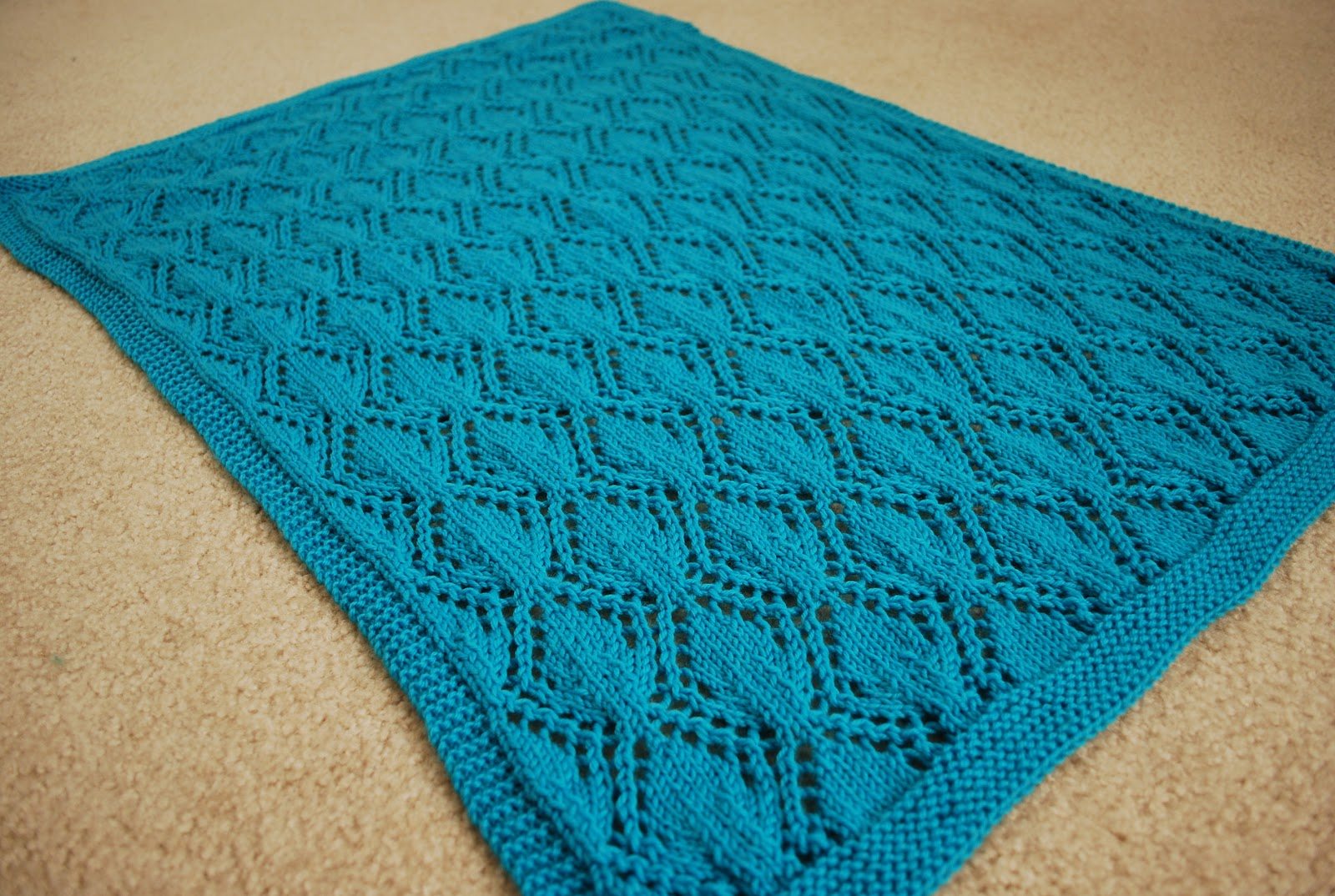 Knit/Wit: Pattern Release: Gothic Leaves Baby Blanket