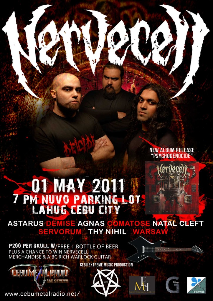Nervecell live in Cebu 2011, poster, picture, image, wallpaper, pic, image, billboard