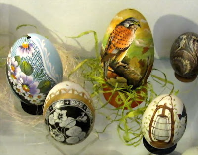 Fashioned eggs exhibition - with natural symbols
