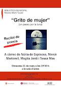 """Cartel públicitario del recital """"grito de mujer"""""""