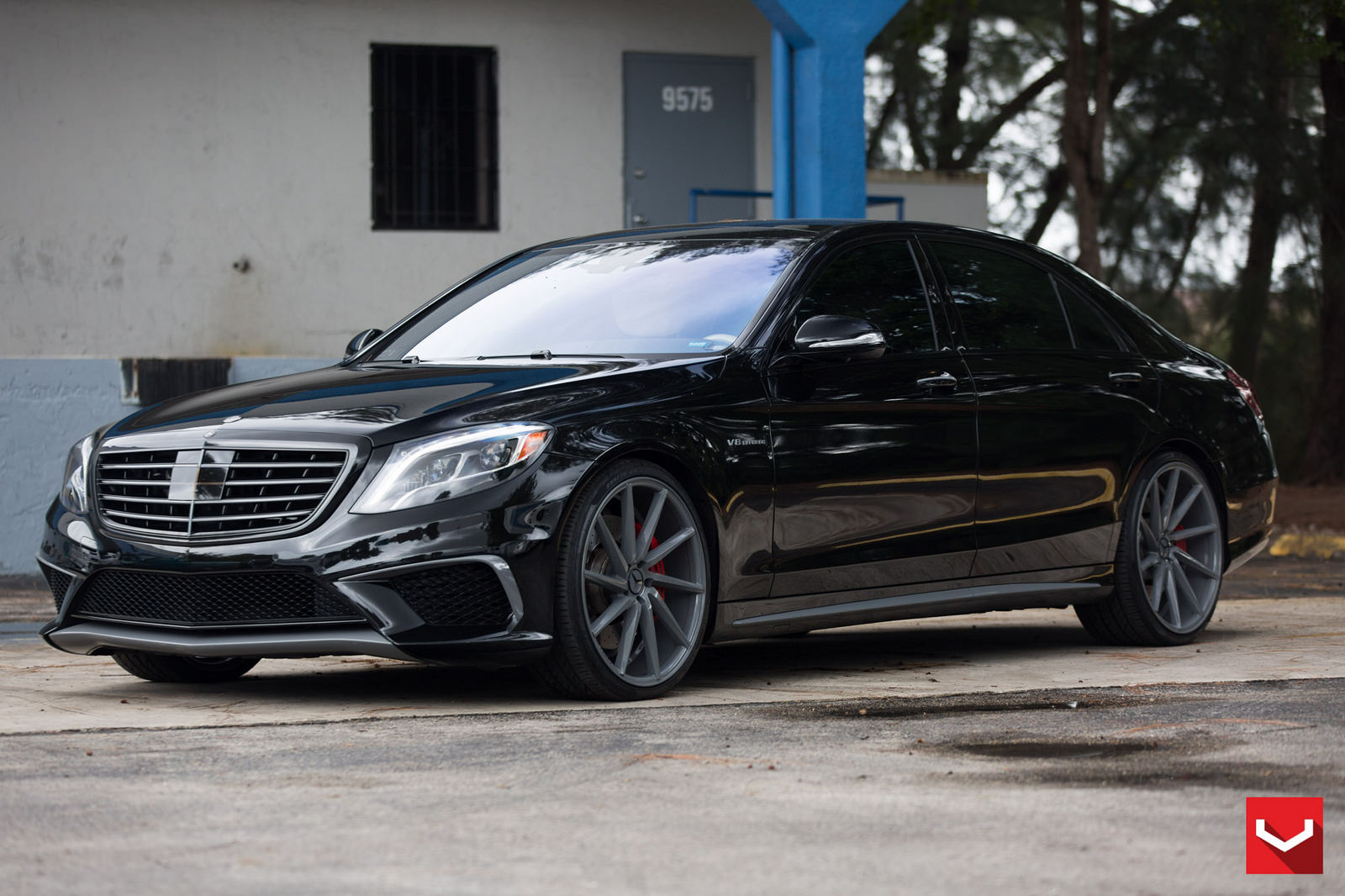 mercedes benz w222 s63 amg on vossen cvt wheels benztuning. Black Bedroom Furniture Sets. Home Design Ideas