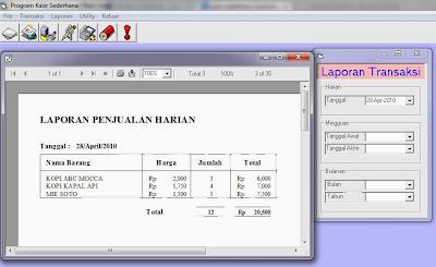 Laporan Visual Basic Kasir Sederhana