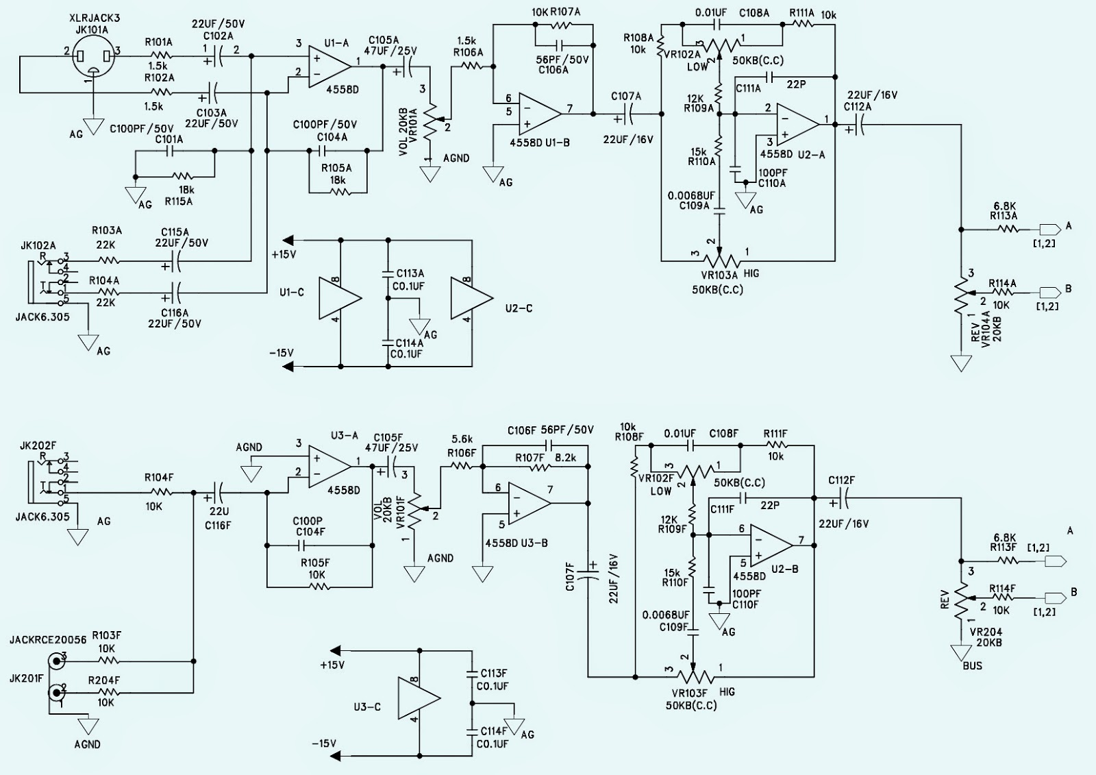 Wharfedale Pro Pm 600 Schematic on tone control preamp schematic