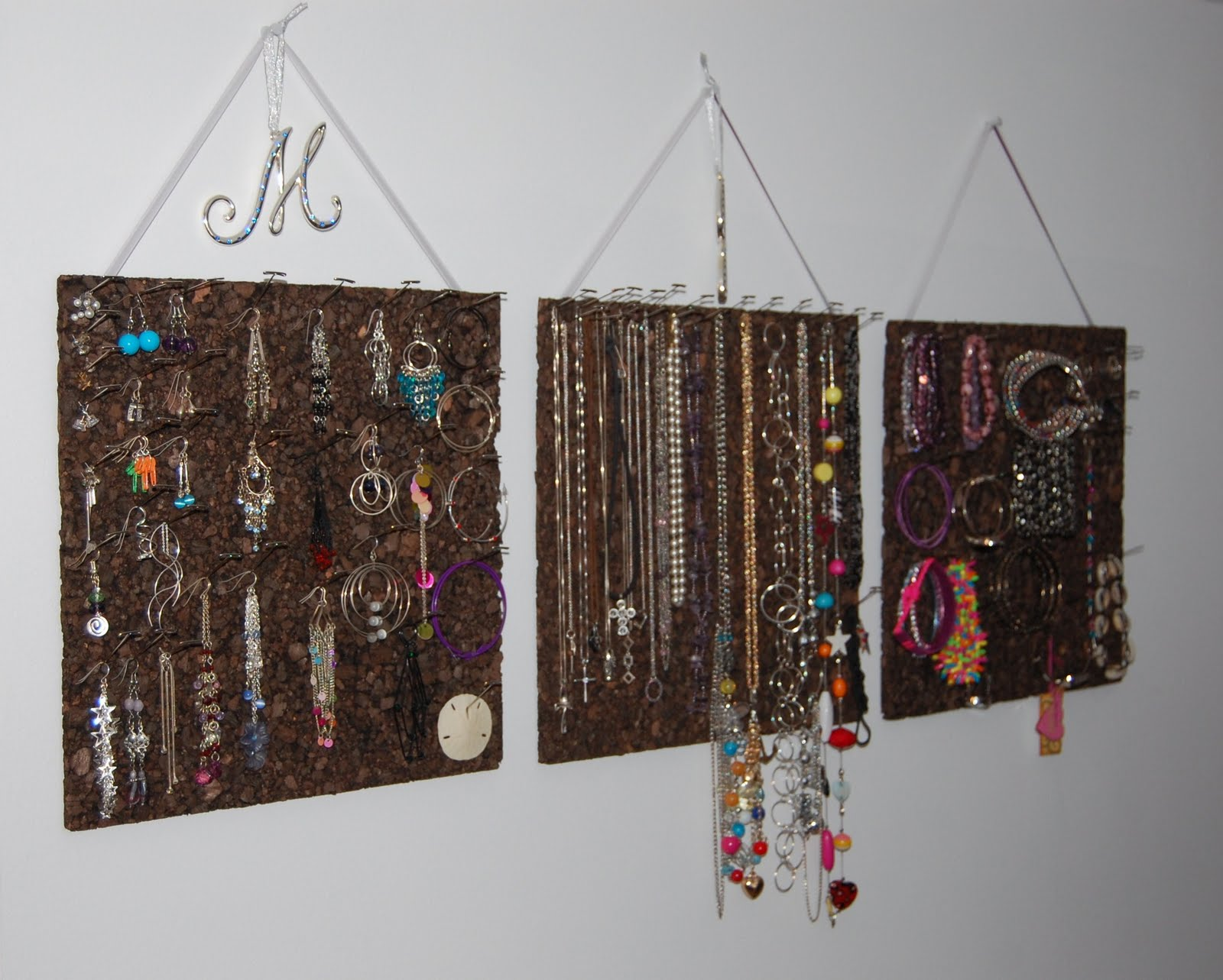 Sharing is Caring Cork Board Jewelry Organizer