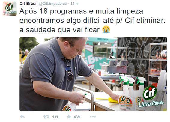 Cif Brasil - Interação no Twitter