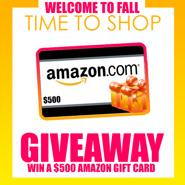 $500 Amazon gift card giveaway with I'm With Cupcake