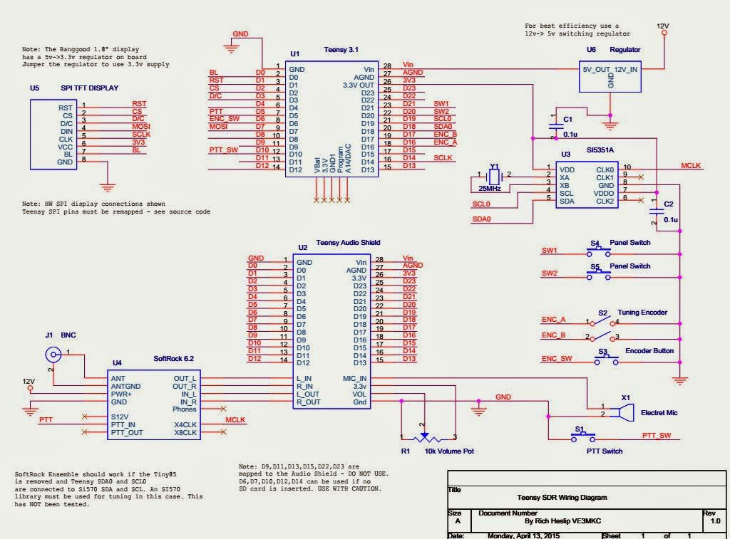 Teensy_SDR_Wiring_V1.0 wiring diagram yamaha yfz450 forum yfz450, yfz450r, yfz450x 2006 yfz 450 wiring diagram pdf at reclaimingppi.co