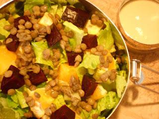 Lentil Beet Orange Salad