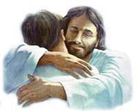 Jesus dando un abrazo