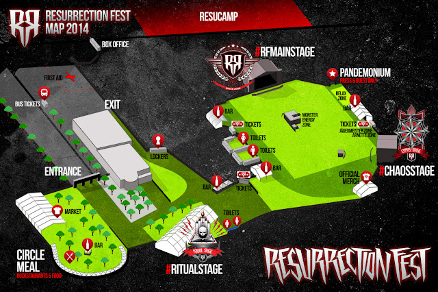 Mapa de Resurrection Fest 2014