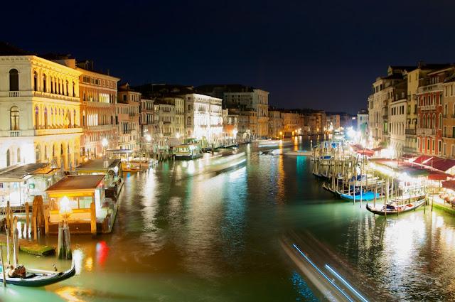 wisata, Venice,italy,gondola, venice at night