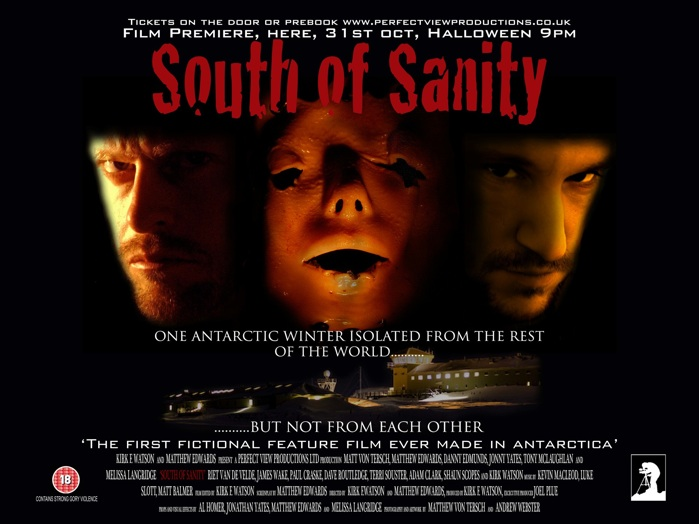 "Poster filem ""South of Sanity""."