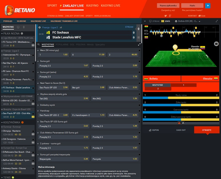 Betano Live Betting Offers