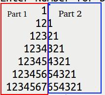 how to print number pyramid in ubuntu