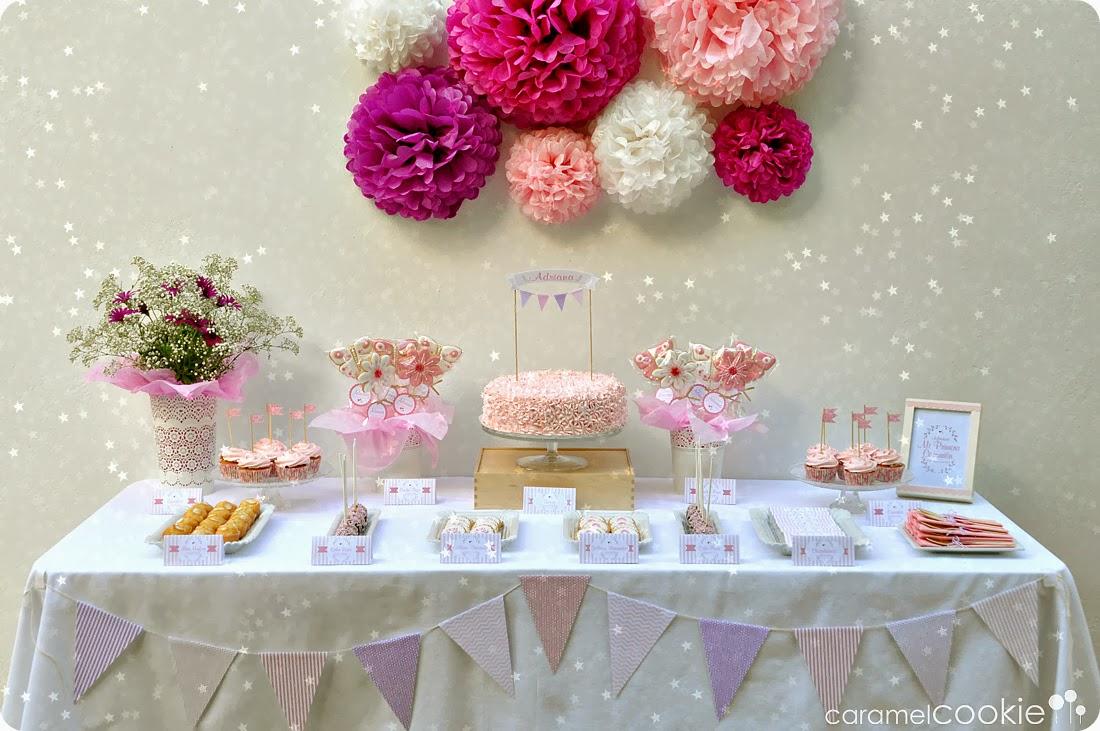 Como decorar mesa para pastel mesa de postres la - Como decorar con fotos una pared ...