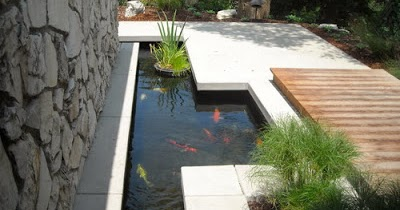 desain kolam ikan hias minimalis - desain interior
