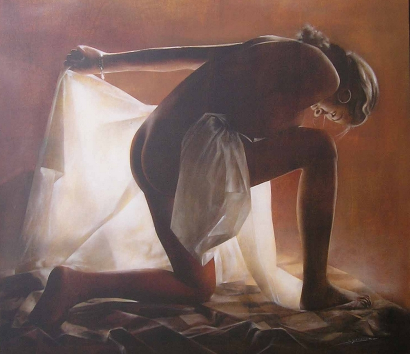 D.W.C. Mysterious Woman - Painter Antonio Sgarbossa