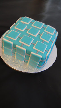 Textured Square Cake