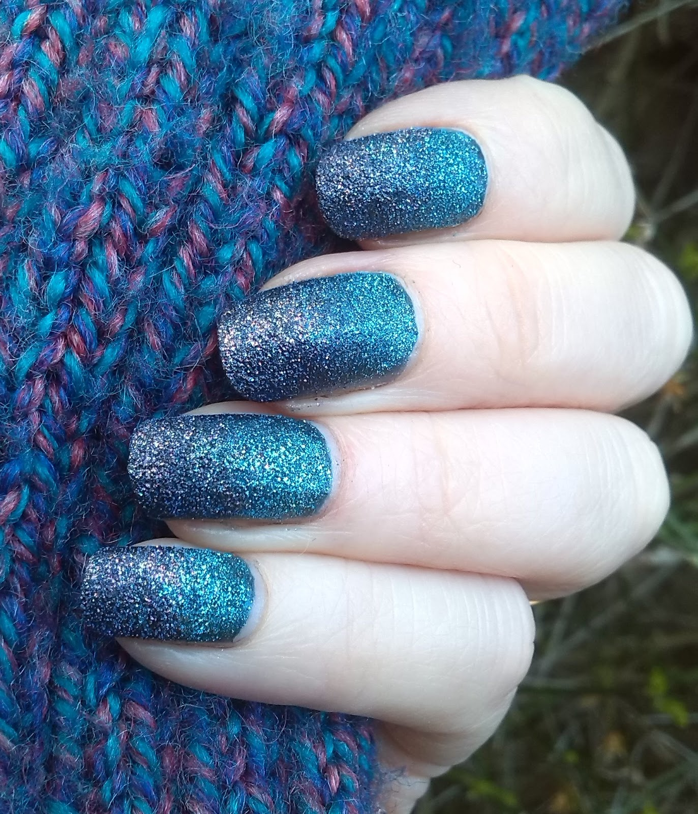 Avon Stardust Polished Plum and Teal Glitter