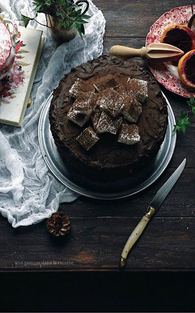 orange buttermilk cake + dark chocolate orange frosting   une gamine dans la cuisine