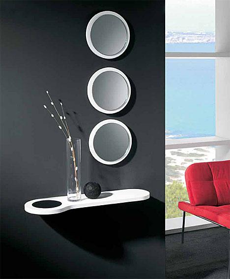 Decora interiores y mas recibidores muy modernos - Recibidores con espejo ...