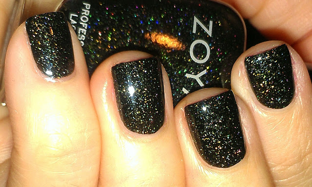 Zoya Ornate black scattered holo